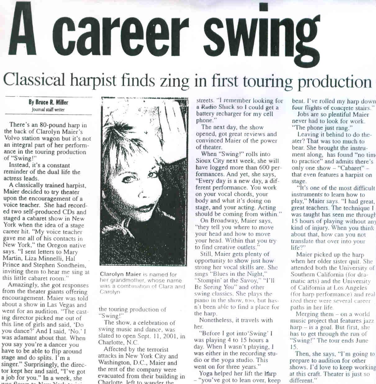 Touring Harp